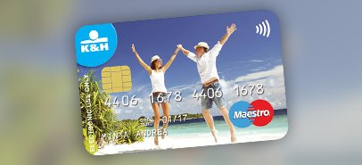 K&H Maestro contactless debit card