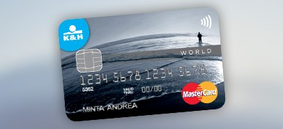 K&H World Mastercard plus contactless credit card